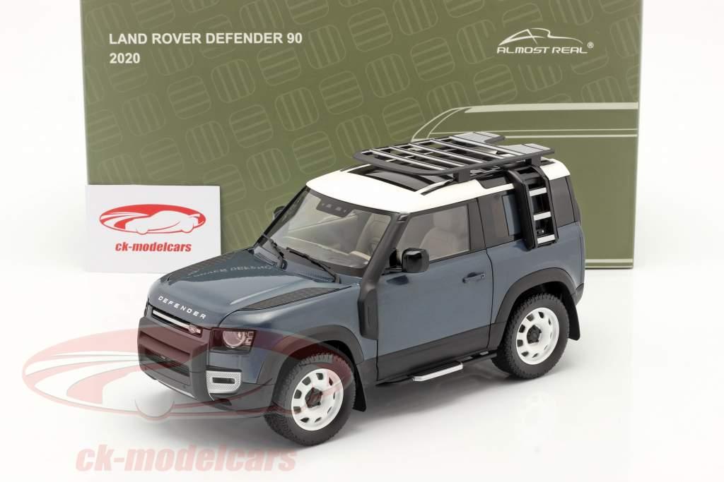 Land Rover Defender 90 Ano de construção 2020 tasman azul 1:18 Almost Real