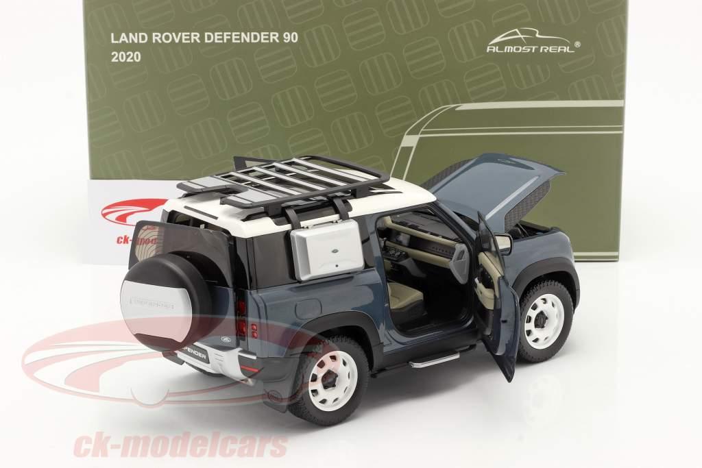 Land Rover Defender 90 Année de construction 2020 tasman bleu 1:18 Almost Real