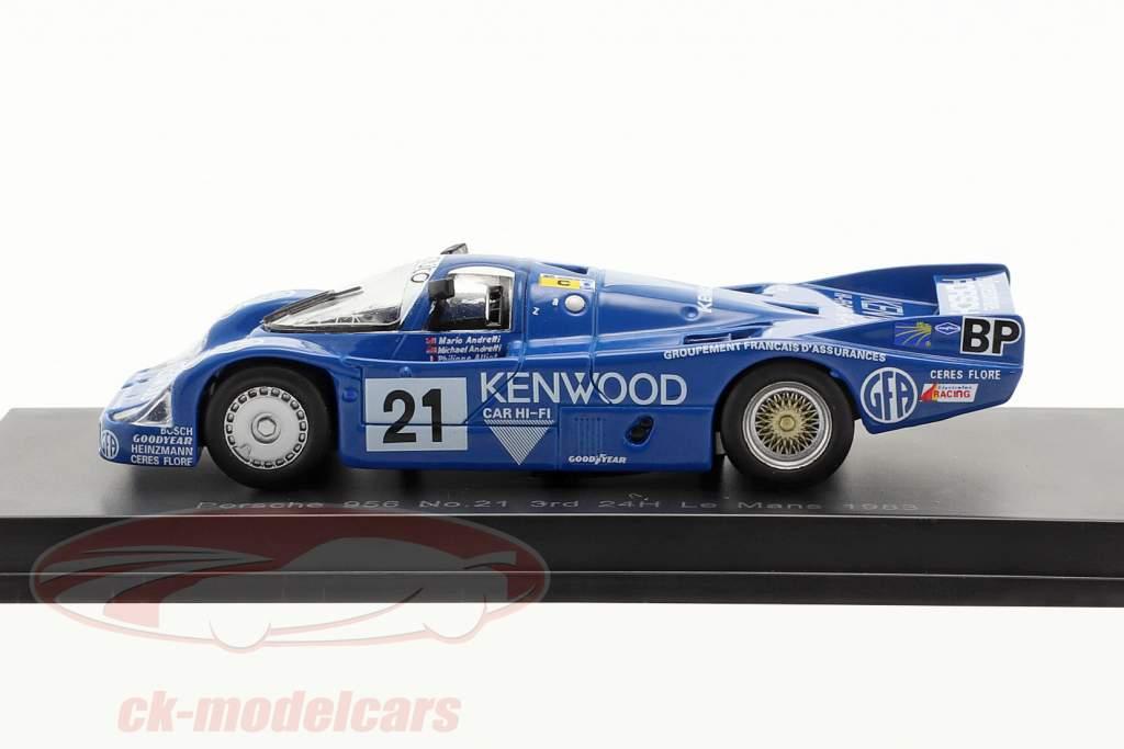Porsche 956 #21 3ª 24h LeMans 1983 Andretti, Andretti, Alliot 1:64 Spark