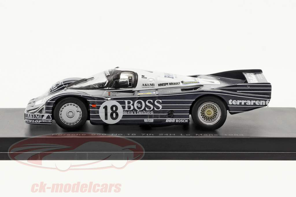 Porsche 956 #18 Séptimo 24h LeMans 1983 Plankenhorn, Wilson, Lässig 1:64 Spark