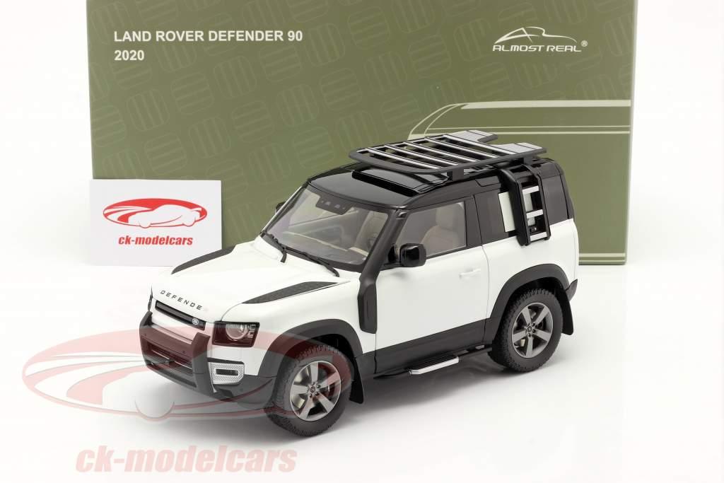Land Rover Defender 90 Byggeår 2020 fuji hvid 1:18 Almost Real