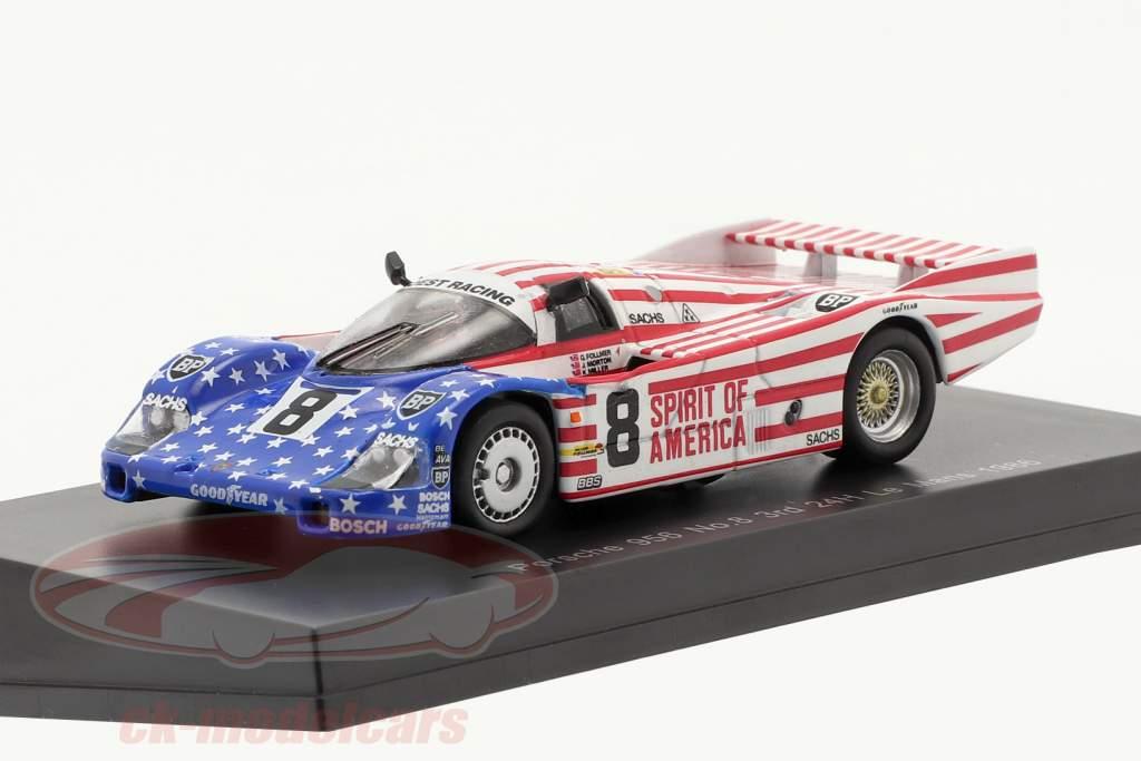Porsche 956 #8 3rd 24h LeMans 1986 Follmer, Morton, Miller 1:64 Spark