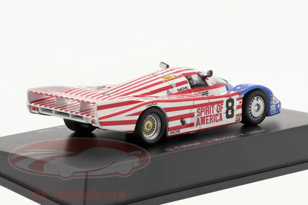Porsche 956 #8 3e 24h LeMans 1986 Follmer, Morton, Miller 1:64 Spark