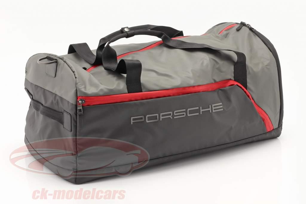 Porsche Reistas ca. 65 x 35 x 30 cm Grijs / zwart / rood
