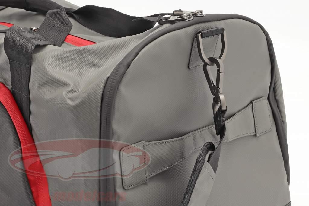 Porsche Mala de viagem ca. 65 x 35 x 30 cm cinza / Preto / vermelho