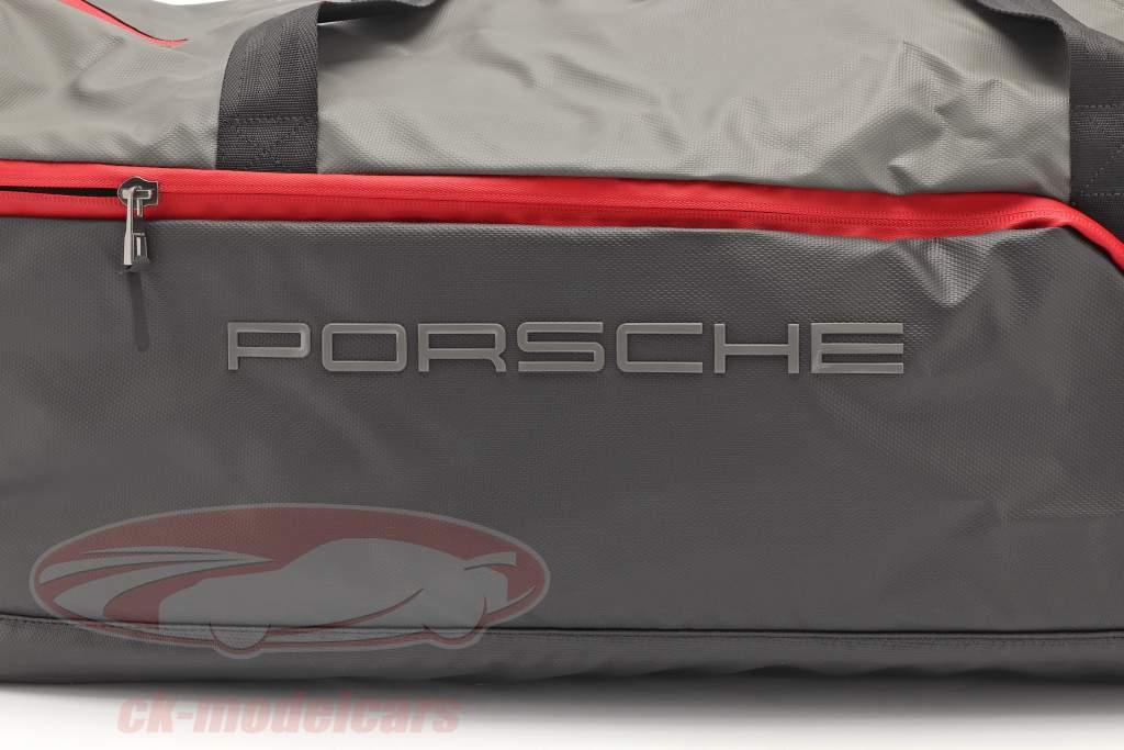 Porsche Sac de voyage ca. 65 x 35 x 30 cm gris / noir / rouge