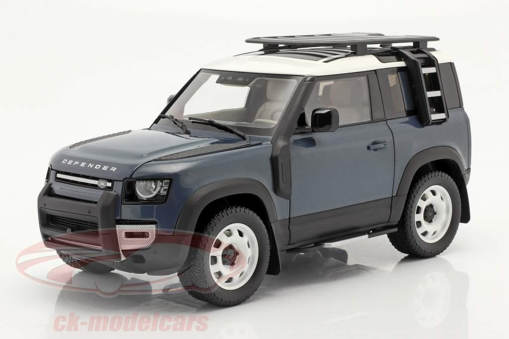Land Rover Defender 90 Anno di costruzione 2020 tasman blu 1:18 Almost Real