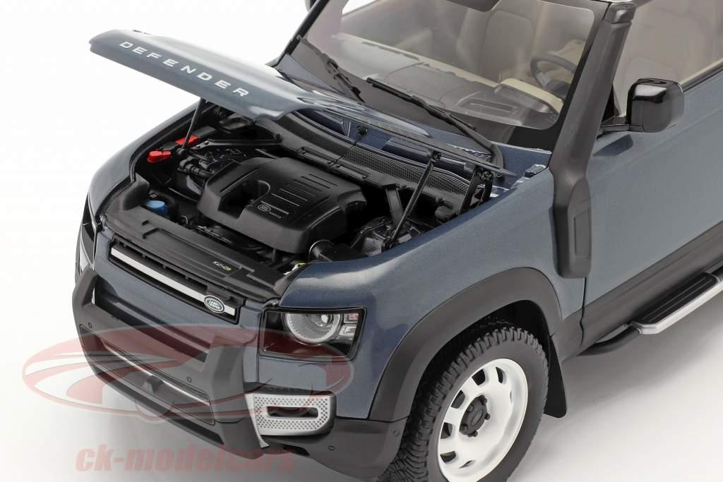 Land Rover Defender 90 Byggeår 2020 tasman blå 1:18 Almost Real