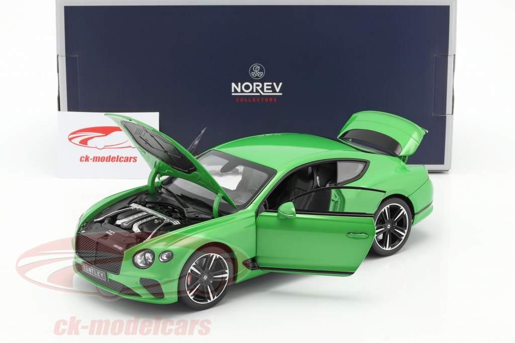 Bentley Continental GT year 2018 apple green 1:18 Norev
