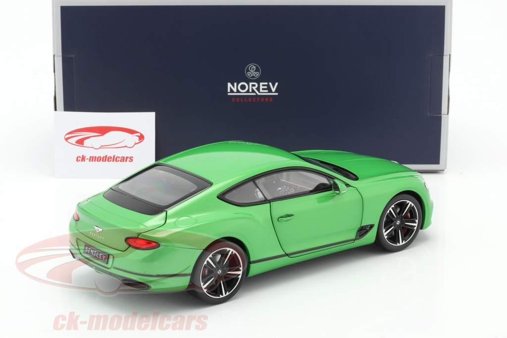 Bentley Continental GT Anno di costruzione 2018 Mela verde 1:18 Norev