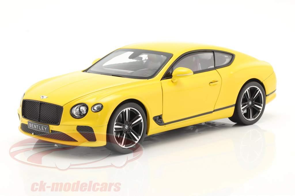 Bentley Continental GT Anno di costruzione 2018 Monaco giallo 1:18 Norev
