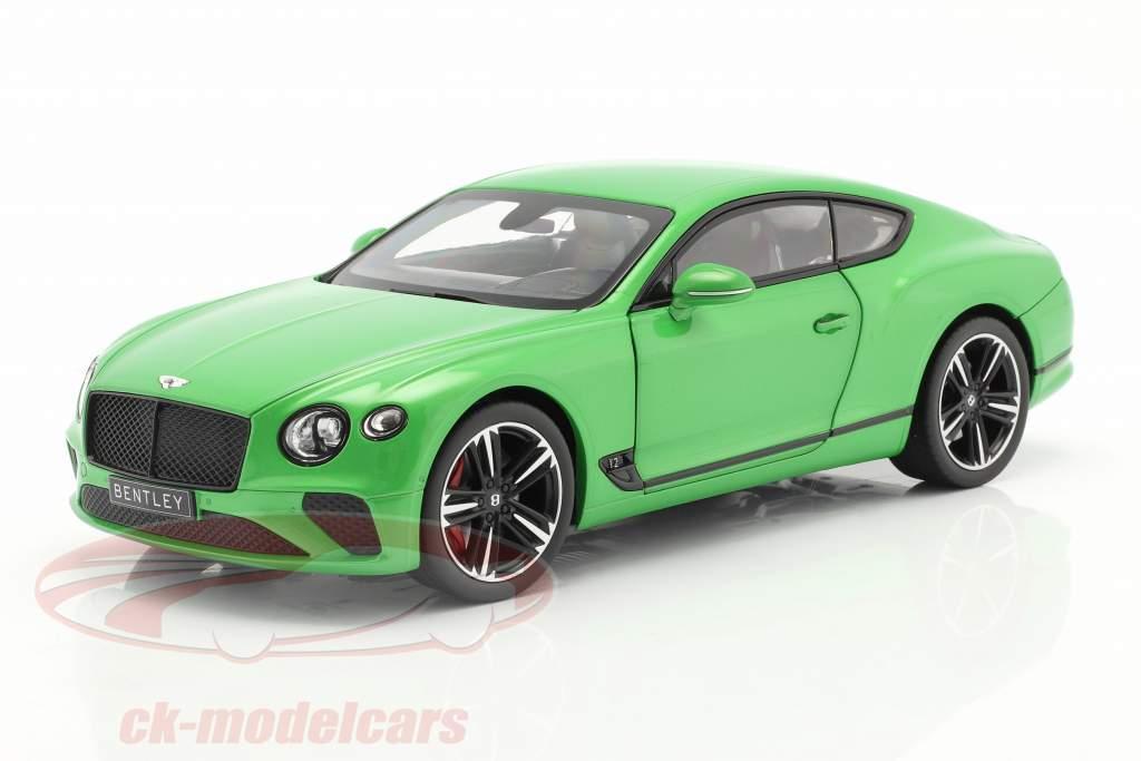 Bentley Continental GT Año de construcción 2018 manzana verde 1:18 Norev