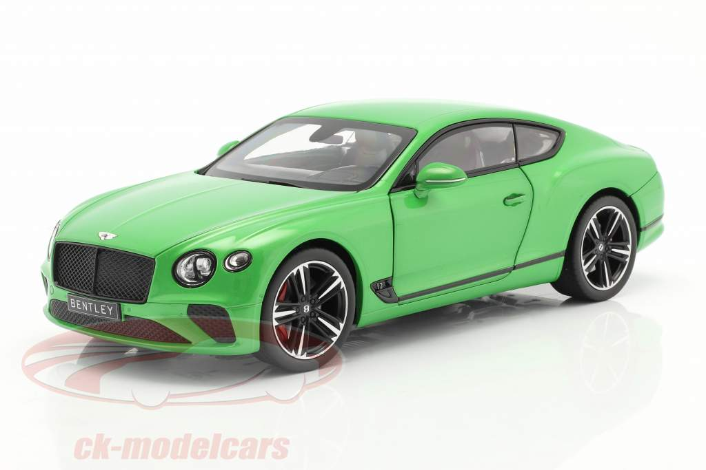 Bentley Continental GT Byggeår 2018 æble grøn 1:18 Norev