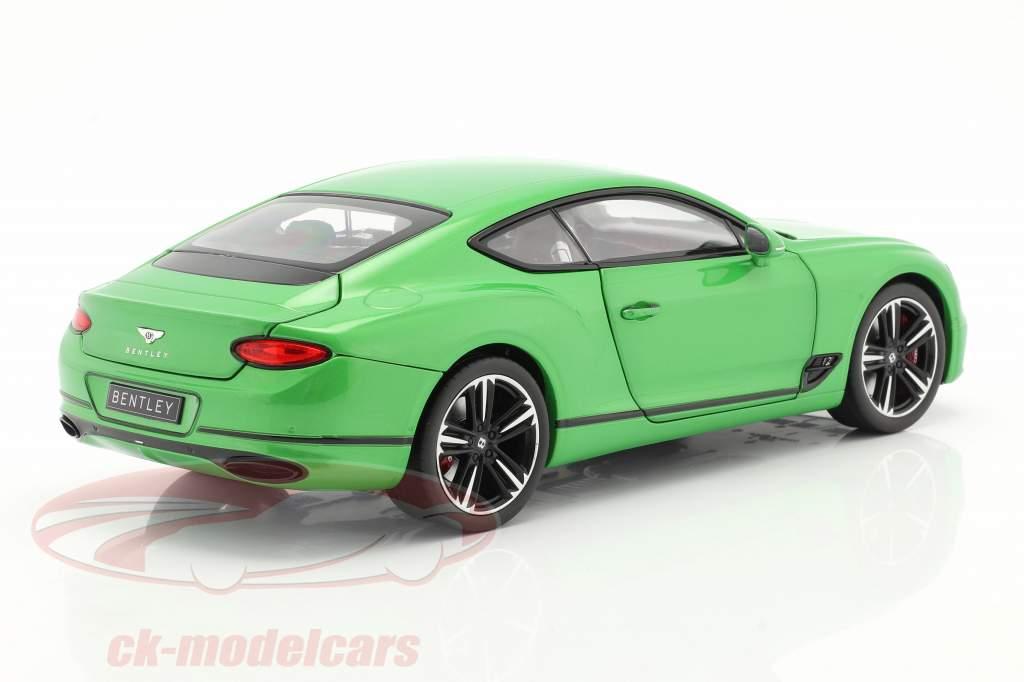 Bentley Continental GT bouwjaar 2018 appel groen 1:18 Norev