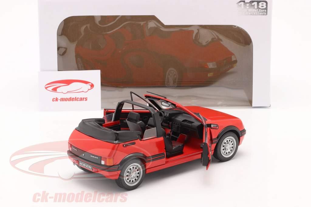 Peugeot 205 CTI MK1 Conversível Ano de construção 1989 vermelho 1:18 Solido