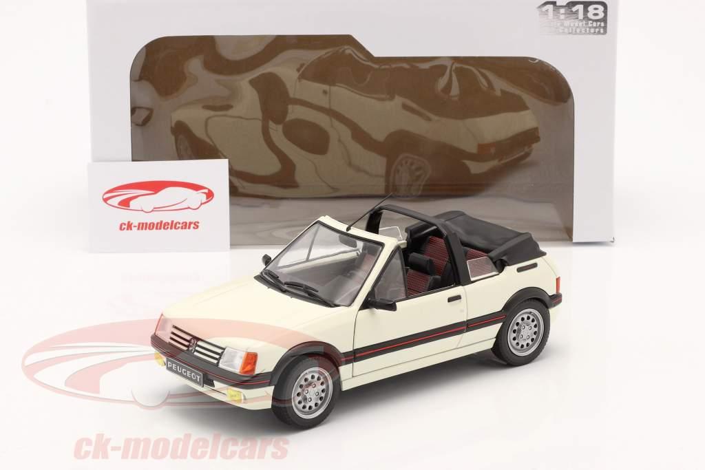 Peugeot 205 CTI MK1 Convertible Año de construcción 1989 blanco 1:18 Solido