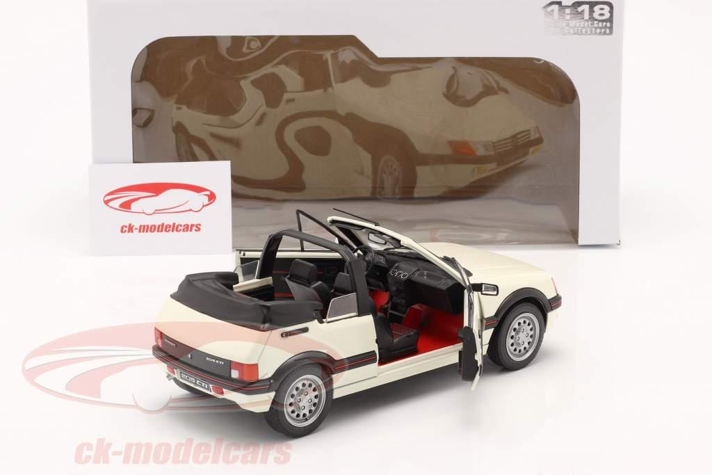 Peugeot 205 CTI MK1 Cabriolet Baujahr 1989 weiß 1:18 Solido