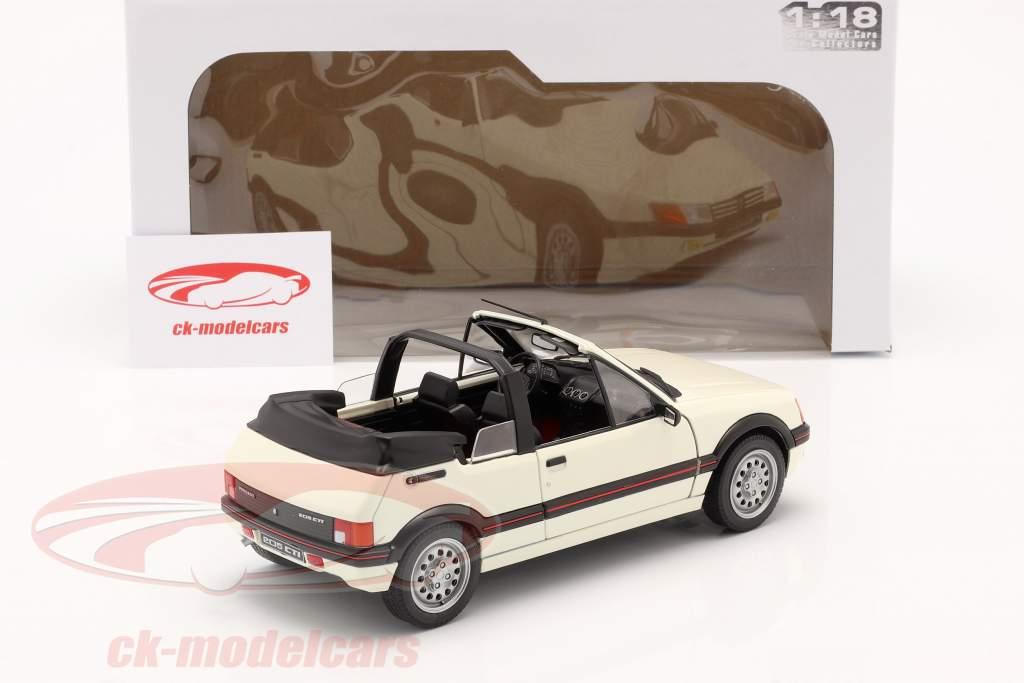 Peugeot 205 CTI MK1 Convertibile Anno di costruzione 1989 bianca 1:18 Solido