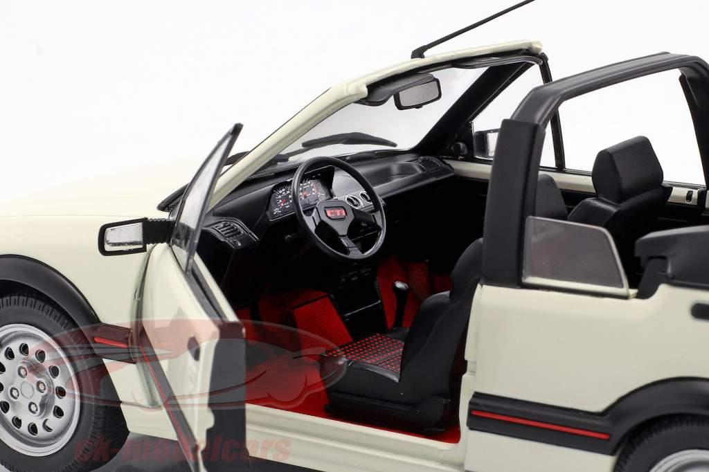 Peugeot 205 CTI MK1 Conversível Ano de construção 1989 Branco 1:18 Solido