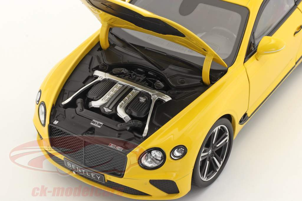 Bentley Continental GT year 2018 Monaco yellow 1:18 Norev