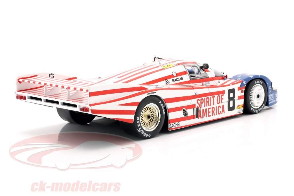 Porsche 956 LH #8 3ª 24h LeMans 1986 Follmer, Morton, Miller 1:18 Solido