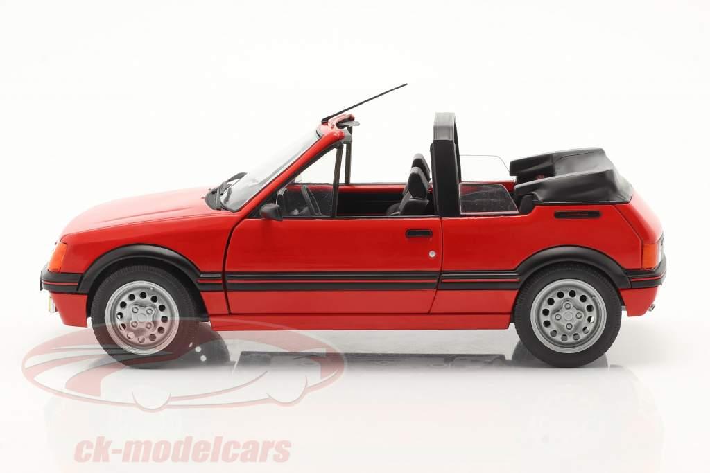 Peugeot 205 CTI MK1 Convertible year 1989 red 1:18 Solido