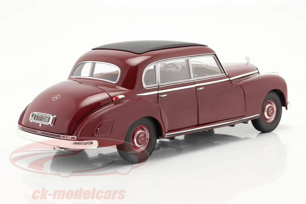 Mercedes-Benz 300 (W186) Année de construction 1955 foncé rouge 1:18 Norev