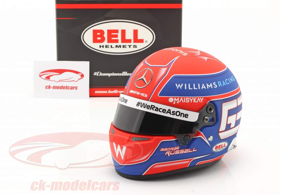 George Russell #63 Williams Racing формула 1 2021 шлем 1:2 Bell