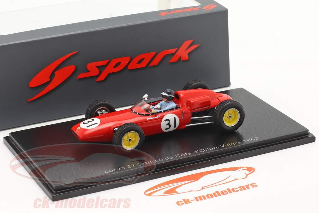 Lotus 21 #31 Tercero Ollon-Villars Hillclimb 1962 Jim Clark 1:43 Spark