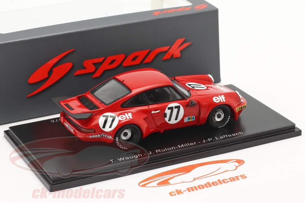 Porsche 911 Carrera RSR #77 Winner IMSA GT class 24h LeMans 1976 1:43 Spark