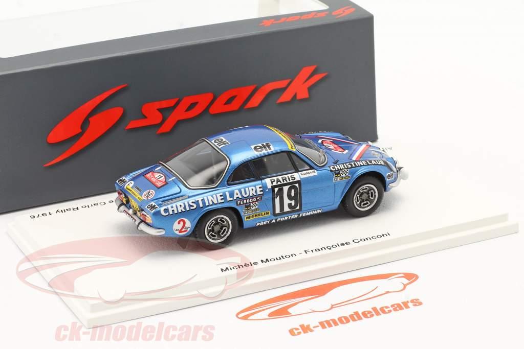 Alpine-Renault A110 1800 # Gagnant Coupe des Dames Rallye Monte Carlo 1976 1:43 Spark