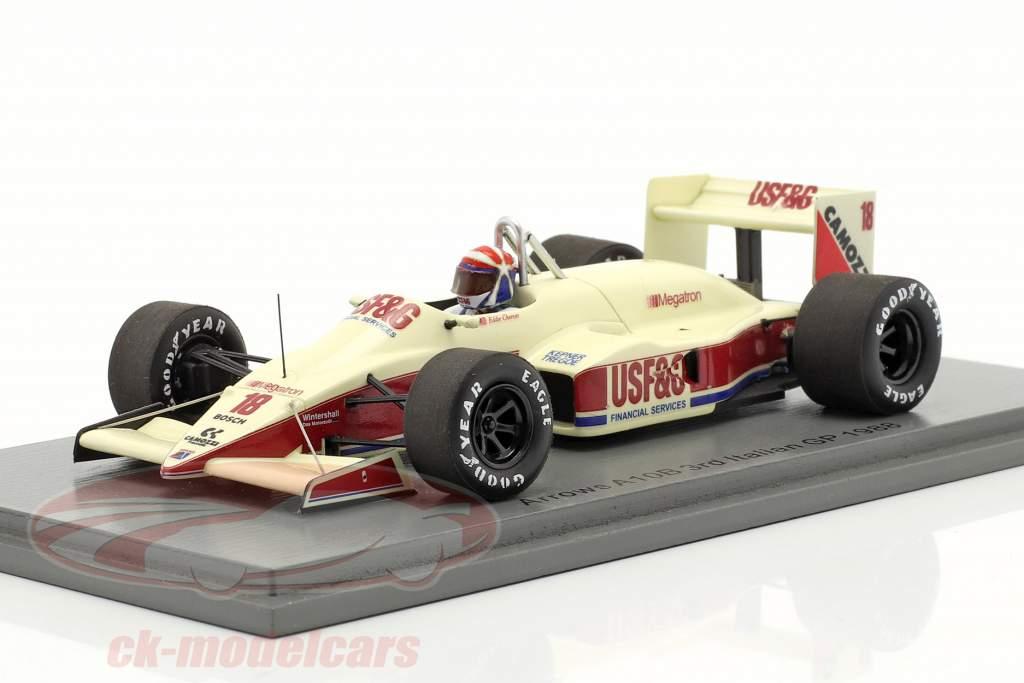 Eddie Cheever Arrows A10B #18 3rd Italian GP formula 1 1988 1:43 Spark