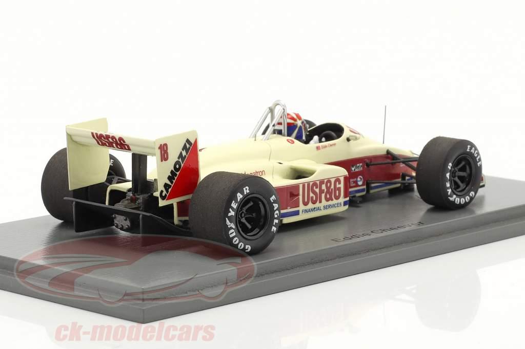 Eddie Cheever Arrows A10B #18 3. Italiensk GP formel 1 1988 1:43 Spark