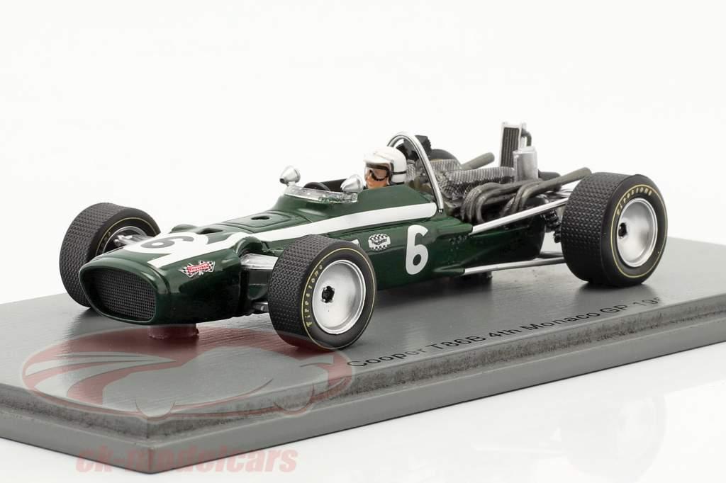 Ludovico Scarfiotti Cooper T86B #6 4th Monaco GP formula 1 1968 1:43 Spark