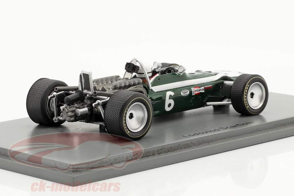Ludovico Scarfiotti Cooper T86B #6 Cuarto Monaco GP fórmula 1 1968 1:43 Spark