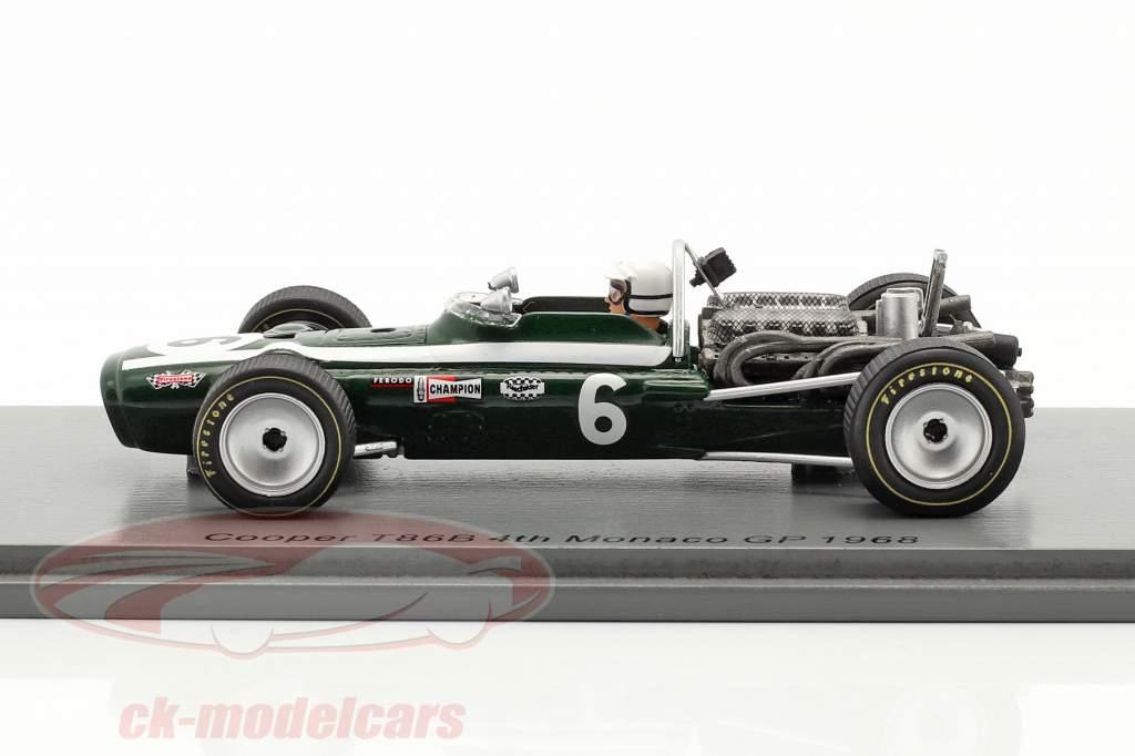 Ludovico Scarfiotti Cooper T86B #6 4e Monaco GP formule 1 1968 1:43 Spark