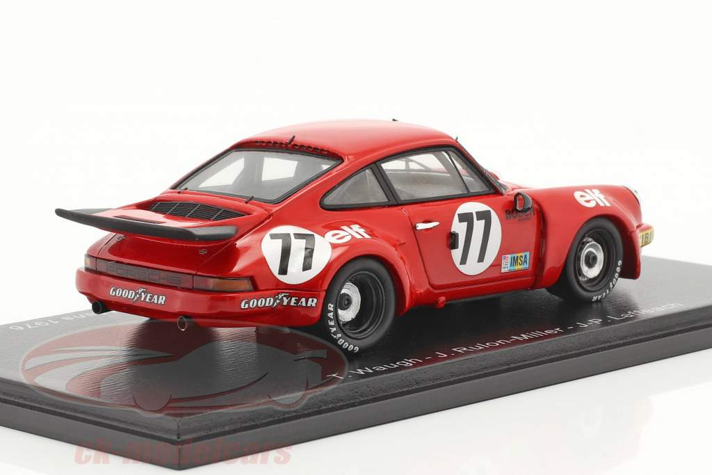 Porsche 911 Carrera RSR #77 Vinder IMSA GT klasse 24h LeMans 1976 1:43 Spark