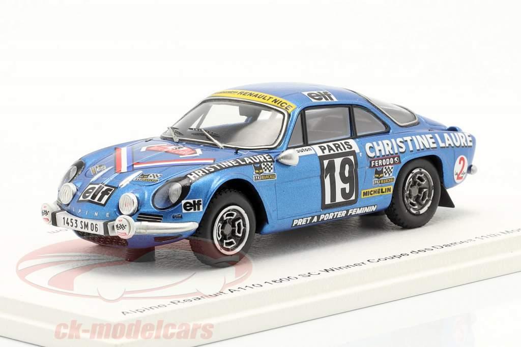 Alpine-Renault A110 1800 # Vinder Coupe des Dames Rallye Monte Carlo 1976 1:43 Spark