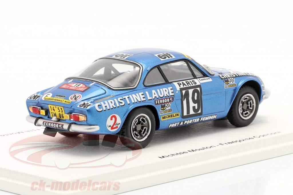 Alpine-Renault A110 1800 # Vencedora Coupe des Dames Rallye Monte Carlo 1976 1:43 Spark