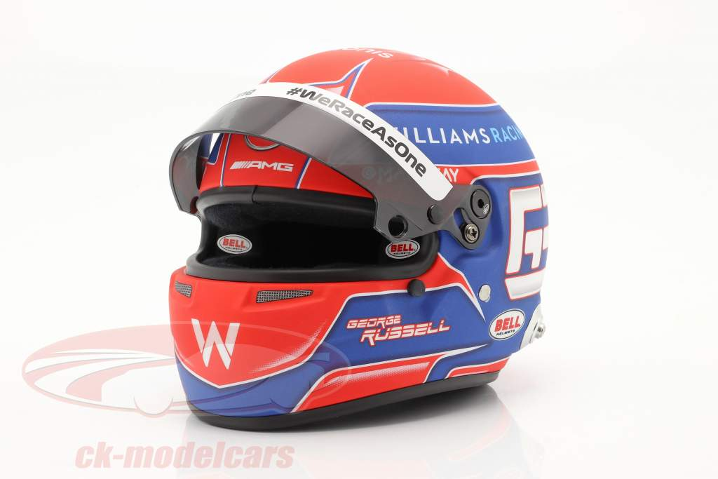 George Russell #63 Williams Racing formule 1 2021 casque 1:2 Bell