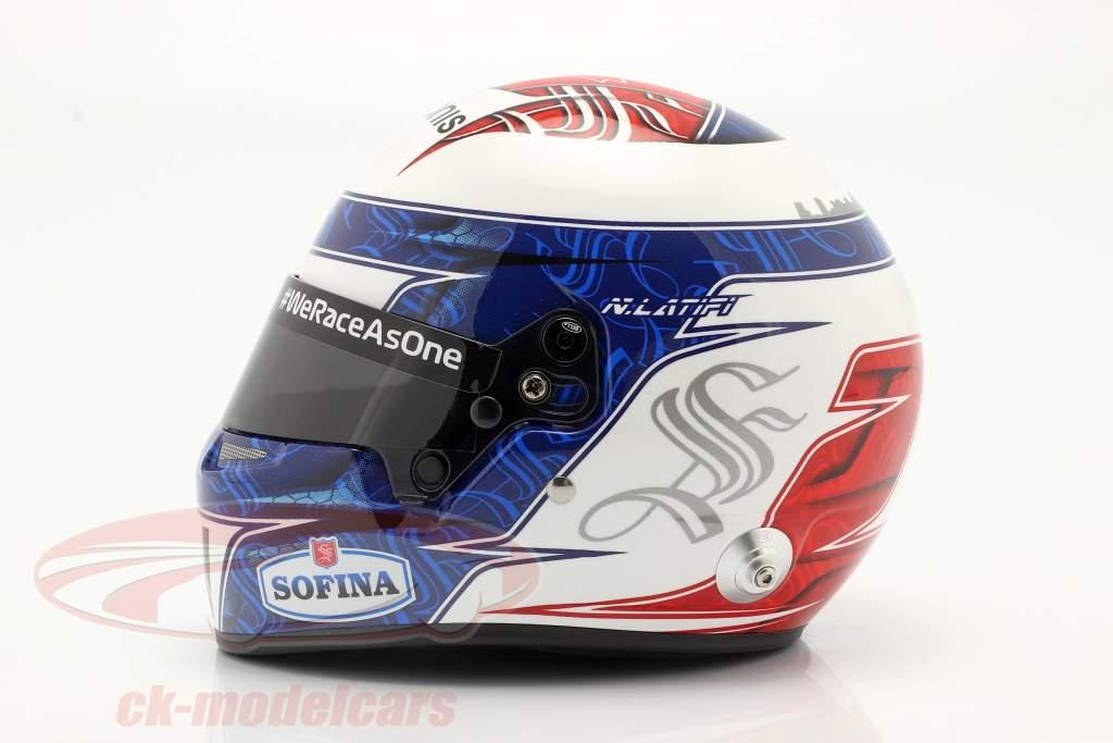 Nicholas Latifi #6 Williams Racing formula 1 2021 helmet 1:2 Bell