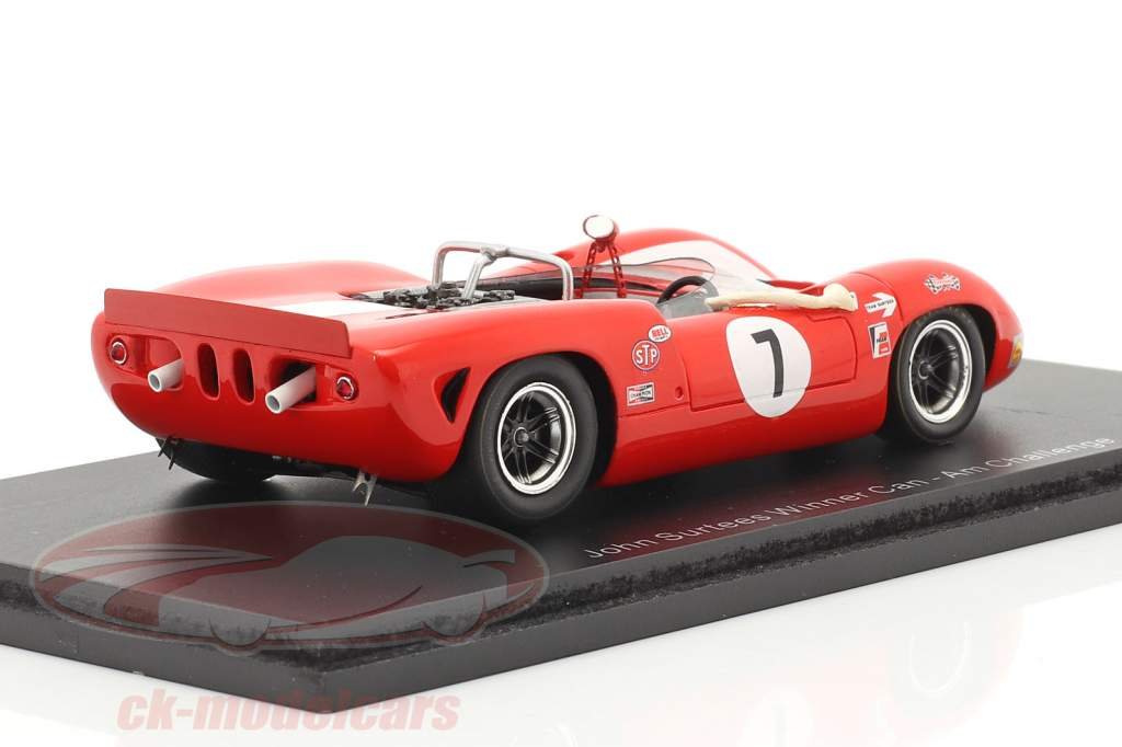Lola T70 #7 Vincitore Can-Am Riverside 1966 John Surtees 1:43 Spark