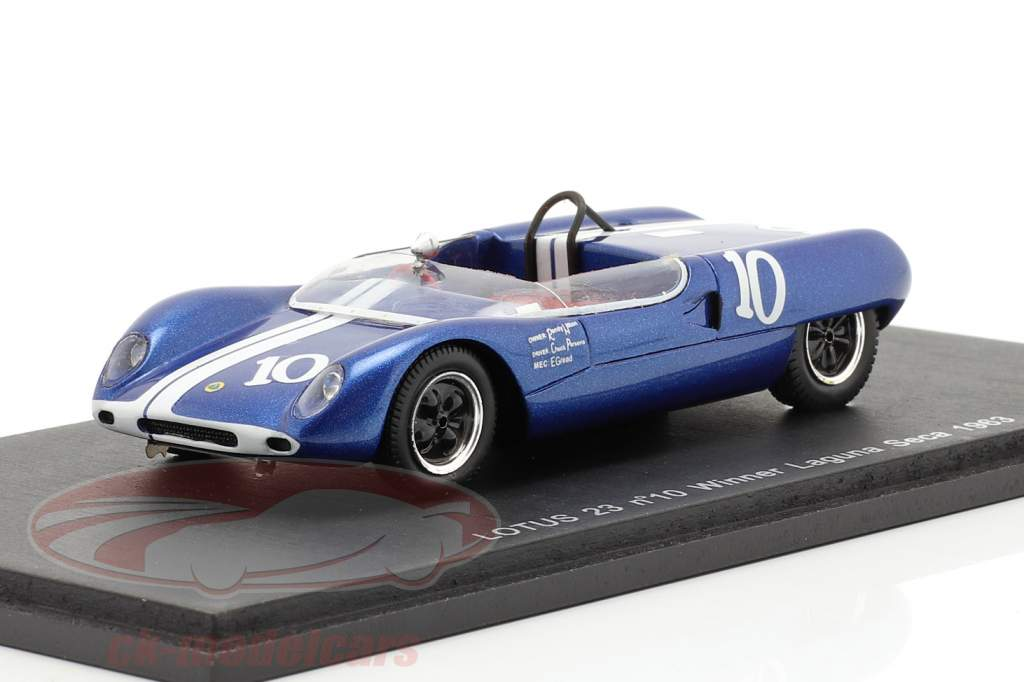 Lotus 23 #10 Vinder Laguna Seca 1963 Parsons 1:43 Spark