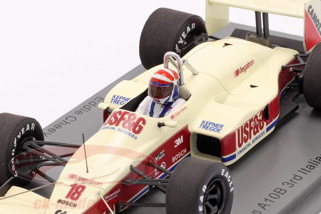 Eddie Cheever Arrows A10B #18 3° italiano GP formula 1 1988 1:43 Spark