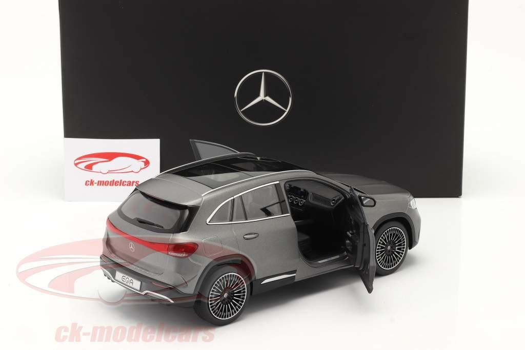 Mercedes-Benz EQA (H243) bouwjaar 2021 designo berg grijs magno 1:18 NZG
