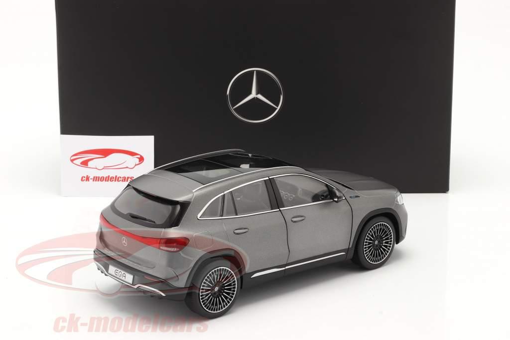 Mercedes Benz EQA (H243) Año de construcción 2021 designo gris montaña magno 1:18 NZG