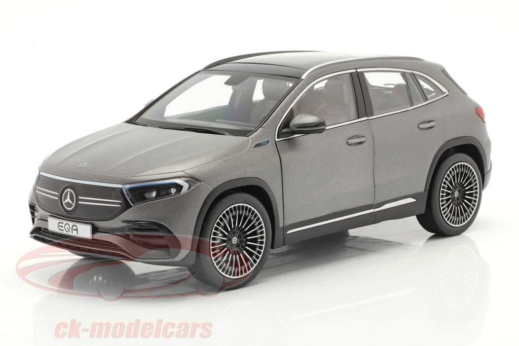 Mercedes-Benz EQA (H243) Année de construction 2021 conception gris montagne magno 1:18 NZG
