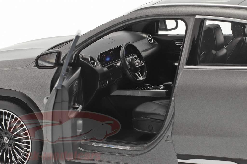 Mercedes Benz EQA (H243) Anno di costruzione 2021 designo grigio di montagna magno 1:18 NZG