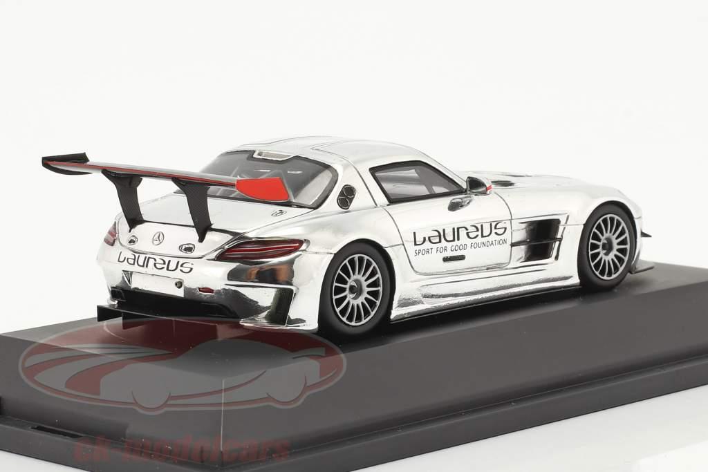 Mercedes-Benz SLS AMG GT3 Laureus chroom 1:43 Spark