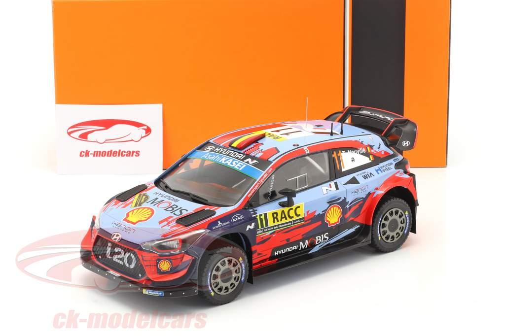 Hyundai i20 Coupe WRC #11 Ganador Rallye Catalunya 2019 Neuville, Gilsoul 1:18 Ixo